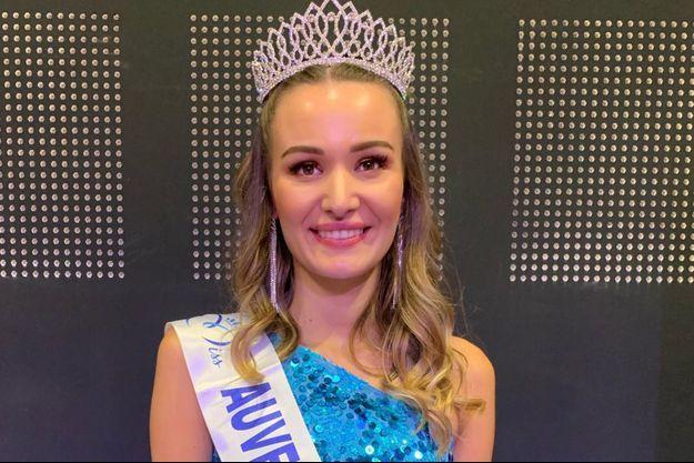 Géromine Prique, Miss Auvergne 2020, le soir de son élection au Puy-en-Velay le 17 octobre