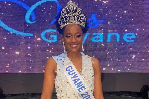 Héléneschka Horth, Miss Guyane, le soir de son élection à Cayenne le 31 octobre 2020