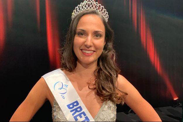 Julie Foricher, alias Miss Bretagne, le soir de son élection à Ploemeur le 27 septembre 2020