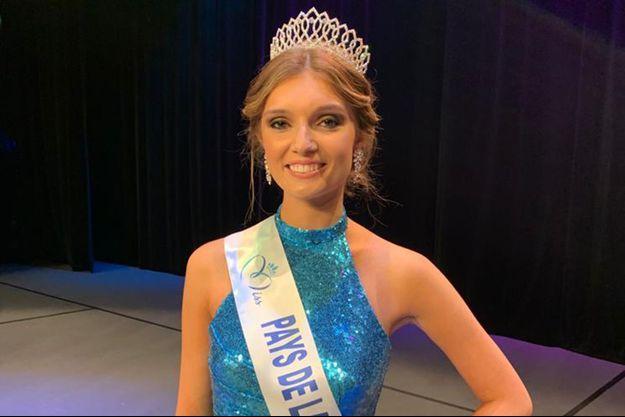 Julie Tagliavacca, Miss Pays de la Loire, le soir de son élection à Château-Gontier-sur-Mayenne le 25 septembre 2020