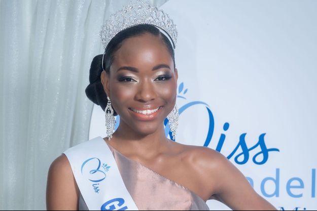 Kenza Andreze-Louison, Miss Guadeloupe, le soir de son élection au Gosier le 21 août 2020