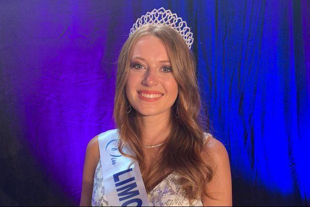 Léa Graniou, Miss Limousin, le soir de son élection à Aubusson le 12 septembre 2020