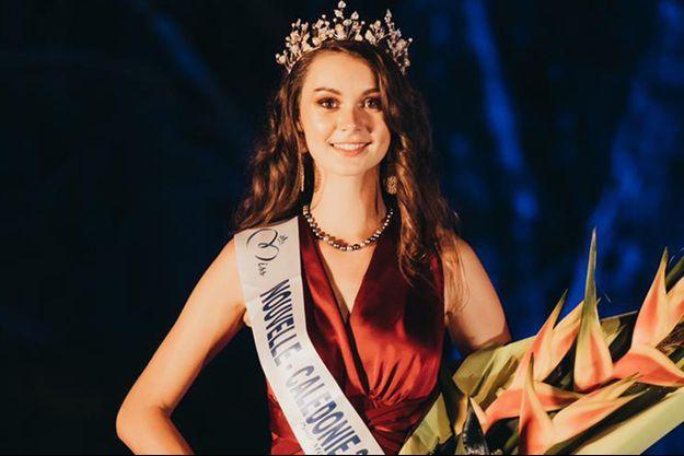 Louisa Salvan, Miss Nouvelle-Calédonie, le soir de son élection à Païta le 31 octobre 2020