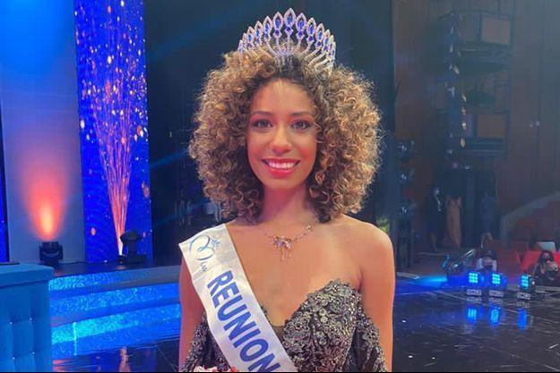 Miss Réunion Lyna Boyer le soir de son élection à Saint-Denis le 31 octobre 2020