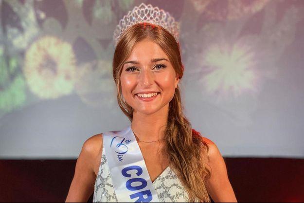 Noémie Leca, Miss Corse, le soir de son élection à Porticcio le 29 juillet 2020