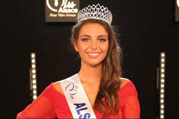 Cécile Wolfrom lors de l'élection de Miss Alsace le dimanche 10 octobre 2021