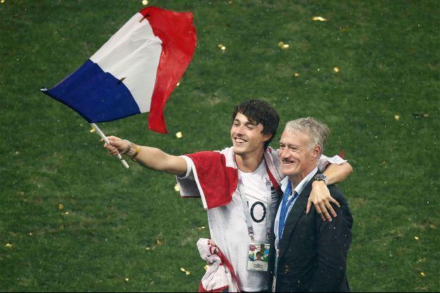 Didier Deschamps et son fils Dylan.