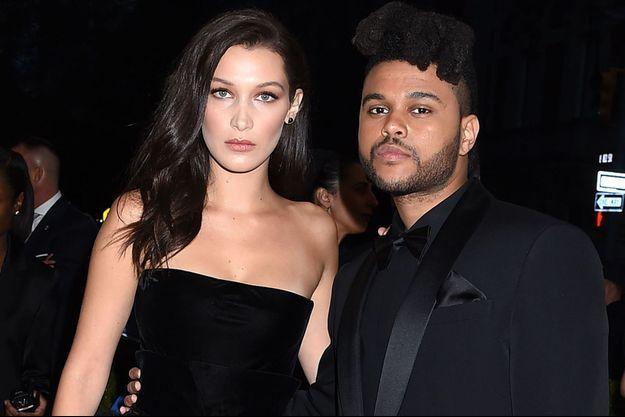 Bella Hadid et son compagnon The Weeknd, en mai 2016.