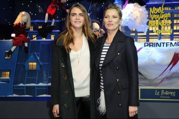 Cara Delevingne et Kate Moss à Paris le 6 novembre 2014