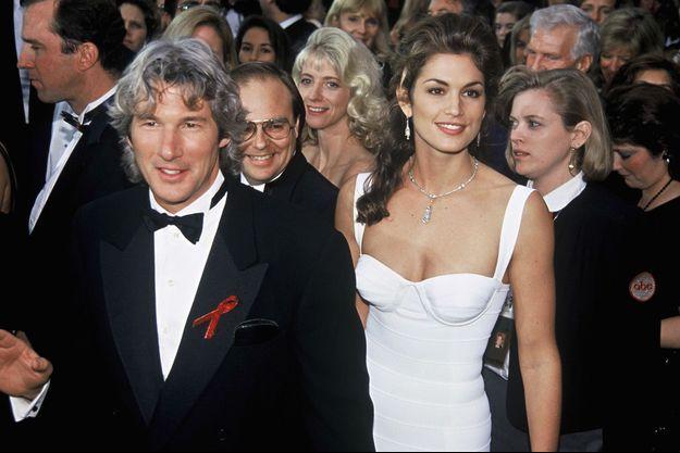 Cindy et Richard lors de la cérémonie des Oscars en 1993.