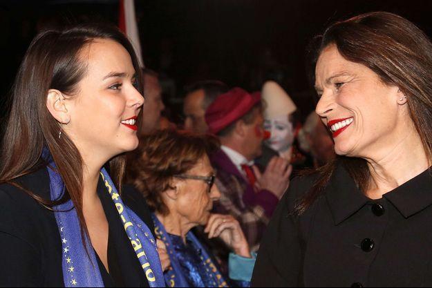 Stéphanie de Monaco et sa fille, Pauline Ducruet, en janvier 2015.