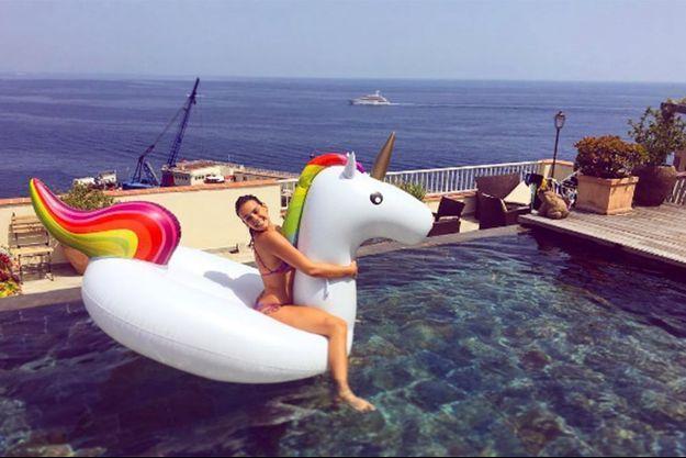 Pauline Ducruet en vacances à Monaco, le 3 juillet 2016.