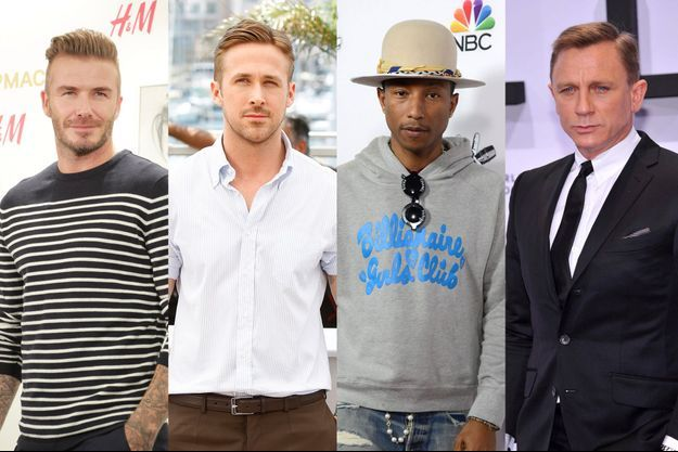 David Beckham, Ryan Gosling, Pharrell et Daniel Craig, icones de mode