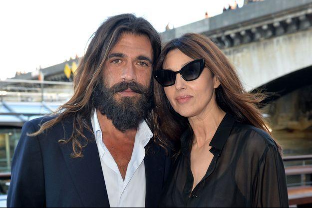 Nicolas Lefebvre et Monica Bellucci à Paris, le 6 juin dernier.