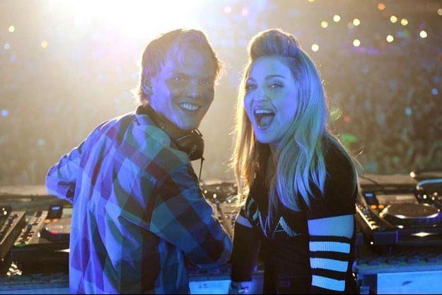 Photo partagée par Madonna sur son compte Instagram en compagnie d'Avicii.