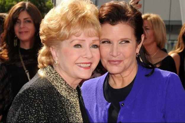 Debbie Reynolds et Carrie Fisher, mère et fille.