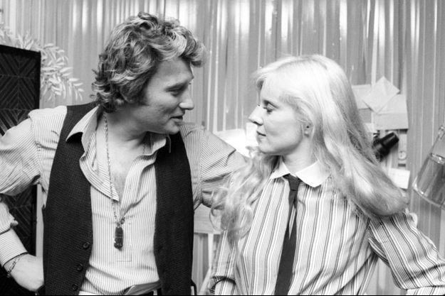 Johnny Hallyday et Sylvie Vartan en 1977