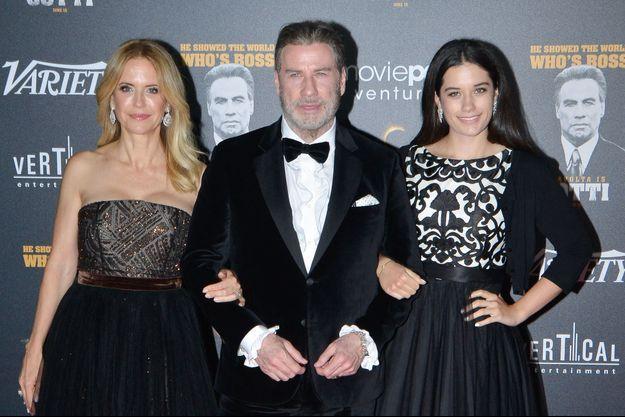 Kelly Preston, John Travolta et leur fille Ella en 2018