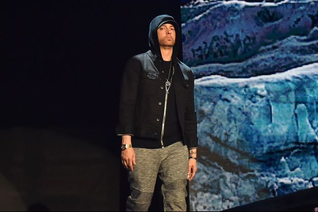 Eminem sur la scène des MTV Europe Music Awards