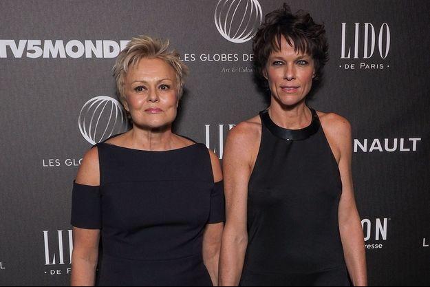Muriel Robin et Anne Le Nen en février 2018.