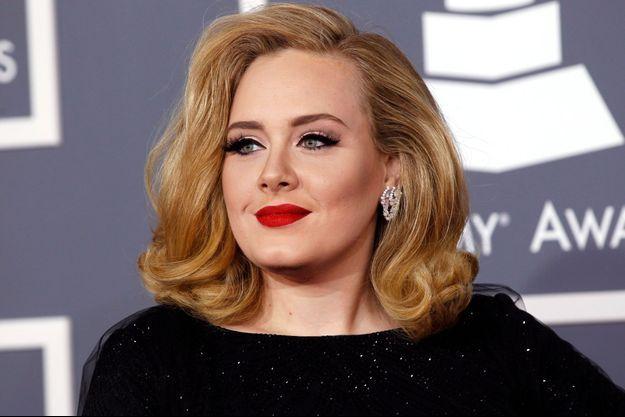 Adele aux 54ème annual Grammy Awards à Los Angeles en février 2012.