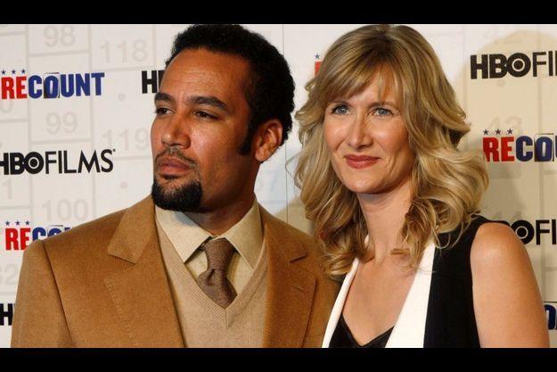 """Ben Harper et Laura Dern, à l'avant-première de """"Recount"""" à New-York en mai 2008."""