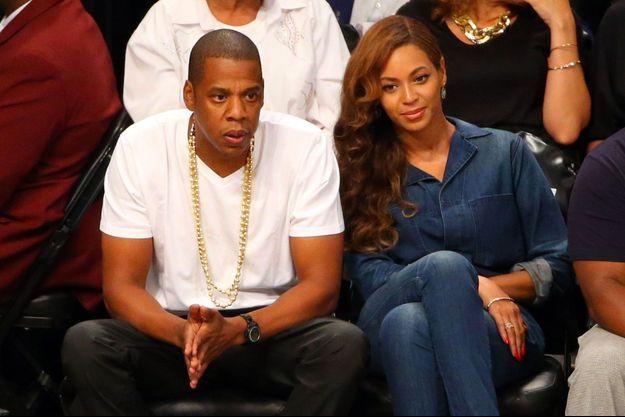 Jay-Z et Beyoncé à Brooklyn, en mai dernier, lors d'un match de basket.