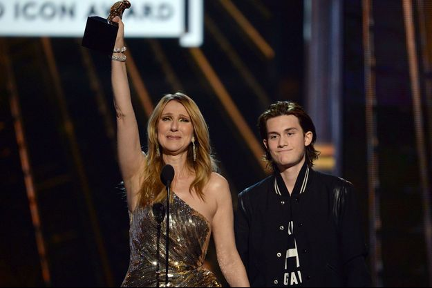 Céline Dion et René-Charles aux Billboard Music Awards.