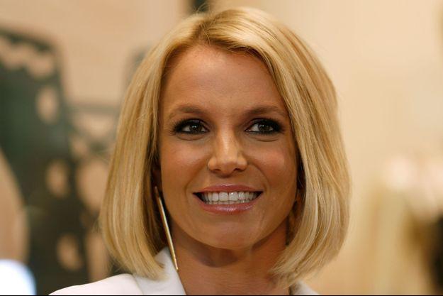 Britney Spears en Allemagne pour le lancement de sa ligne de lingerie en septembre 2014.