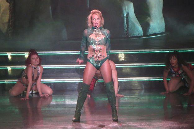 Britney Spears en concert à Las Vegas, le 24 février 2016.