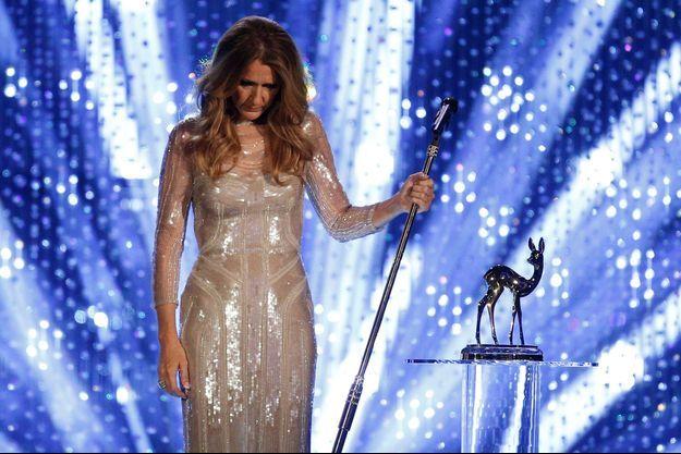 Céline Dion durant la cérémonie des Bambi awards à Düsseldorf, en novembre 2012.