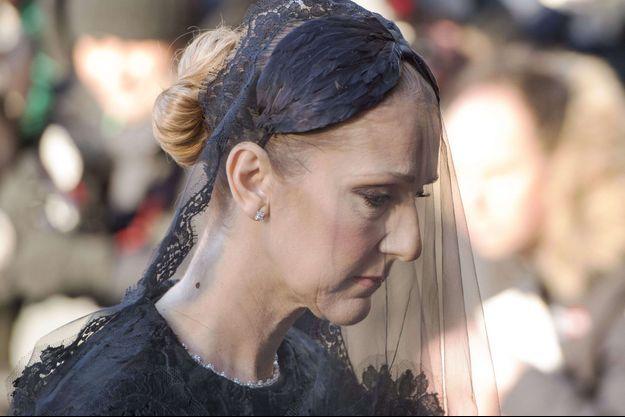 Céline Dion lors des funérailles de son époux René Angélil, à Montréal, le 23 janvier 2016.