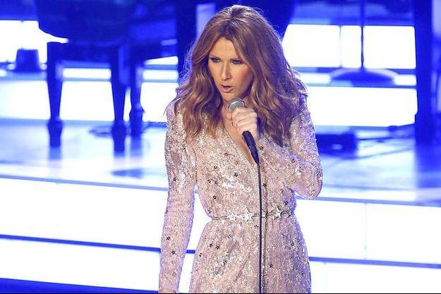 Céline Dion lors de son grand retour à Las Vegas, le 28 août 2015.