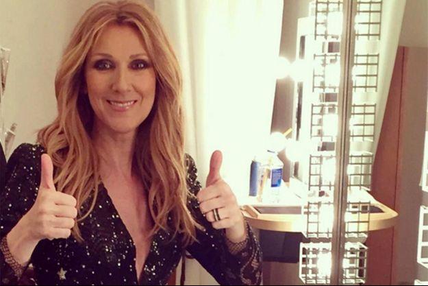 Céline Dion rend hommage à ses fans sur les réseaux sociaux, le 14 mars 2016.