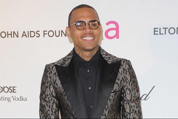 Le rappeur Chris Brown à Los Angeles en février 2013