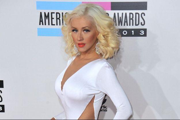 Christina Aguilera aux American Music Awards, en novembre 2013