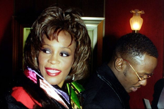 Whitney Houston et Bobby Brown à New York en 1995