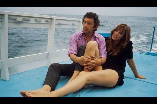 Serge Gainsbourg et Jane Birkin en 1969, au festival de Cannes.