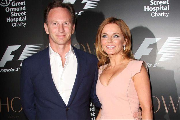 Christian Horner et Geri Halliwell en juillet dernier, lors d'une soirée de charité organisée par le monde de la Formule 1.