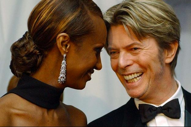 Iman et David Bowie au temps du bonheur.