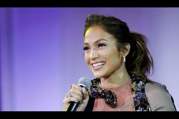 Jennifer Lopez, lors de la conférence de presse annonçant sa tournée d'été le 30 avril, à Los Angeles