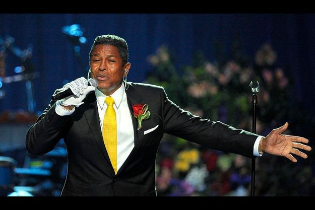 Jermaine Jackson lors du concert hommage à Michael Jackson, en 2009, au Staples Center de Los Angeles.