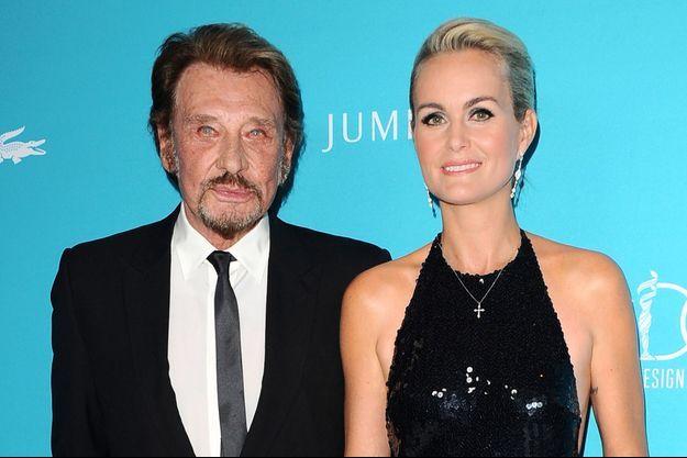 Johnny et Laeticia Hallyday à Los Angeles le 18 février dernier.