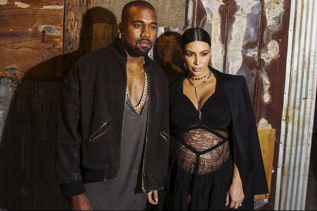 Kanye West et Kim Kardashian à la Fashion Week de NYC, le 11 septembre 2015.