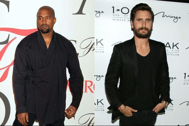 Kanye West (à gauche) et Scott Disick