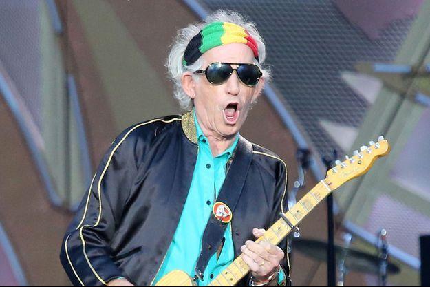Keith Richards lors du concert des Rolling Stones au stade de France le 13 juin 2014