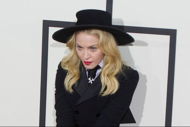 Madonna à Los Angeles le 26 janvier 2014