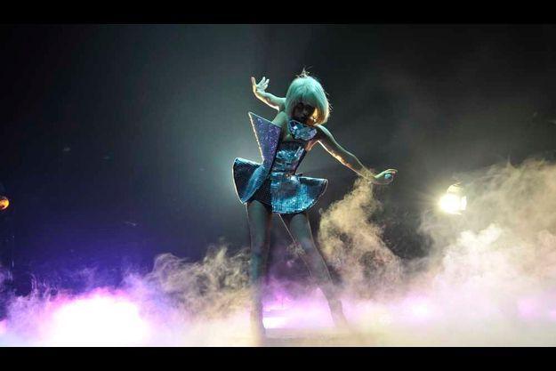 Lady GaGa à l'Olympia à Paris en juillet 2009.