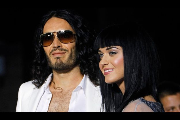 """Katy Perry et Russell Brand, à l'avant-première d'""""American Trip"""" en mai dernier"""