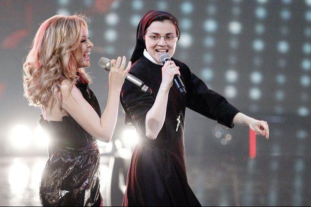 Cristina lors de la finale de «The Voice» en Italie.